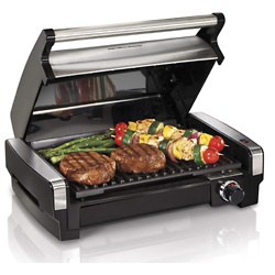 Hamilton Beach Electric Indoor Searing Grill Removable Easy-To-Clean Nonstick Plate