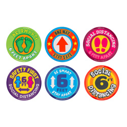 PPE Removable Floor Stickers - Assorted