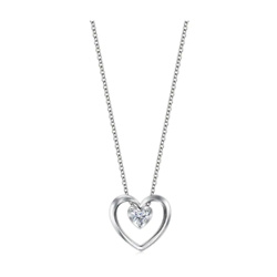 18K 白金钻石项链