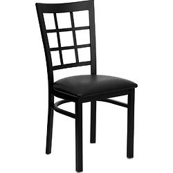 HERCULES 系列黑色窗格靠椅