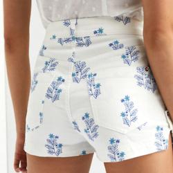 Ultra High-Rise Denim Shorts
