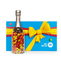 PERSONALIZABLE M&M'S OCCASION BOTTLE IN JUST FOR YOU GIFT BOX