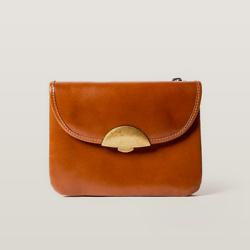 ELYSE MINI CARAMEL  Mini Thin and Flexible Leather Handbag