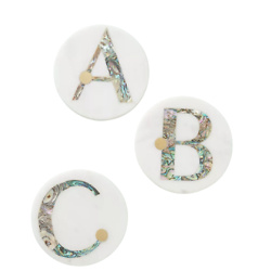Gwen Monogram Coaster