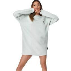 playboy x missguided mint classic oversized sweater dress