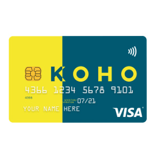 KOHO Canada: Select A Card to Get Started