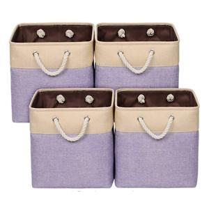 Univivi 4-Pack Fabric Storage Bin