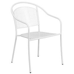 白色室内外钢质扶手靠椅