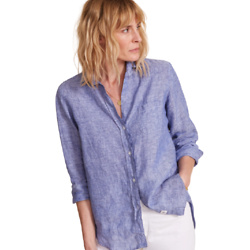 THE HERO BUTTON-UP TUMBLED LINEN