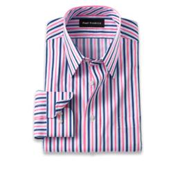 Pure Cotton Alternating Stripe Dress Shirt