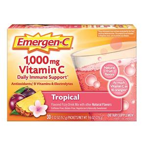 Emergen-C 1000mg 维生素C冲剂 30包 热带水果口味