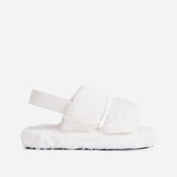 白色毛绒拖鞋