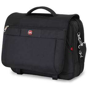 Swiss Gear SA8733 Black TSA Friendly ScanSmart Laptop Messenger Bag
