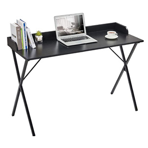 Alecono Black Desk 47'' Writing Computer Desk for Home Office Small Spaces Modern Study Sturdy PC Gaming Table