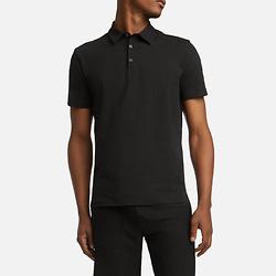 黑色有机棉短袖 Polo衫