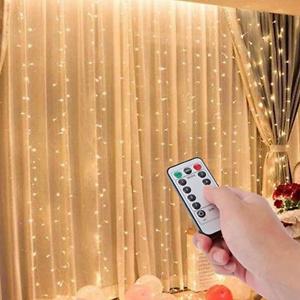 Curtain light 300 LED Fairy String Light 8 Modes Control Decoration