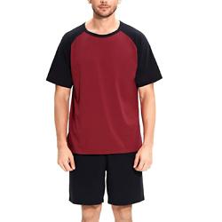 SANQIANG Lightweight Soft Cotton Spandex Stretchy Long/Short Pajamas Set