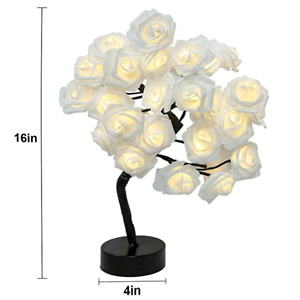 Brightdeco 浪漫玫瑰花树LED氛围感小台灯
