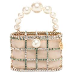ROSANTICA 珍珠修饰盒子包