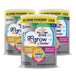 Go & Grow by Similac Toddler Drink, 3 Cans