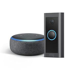 Ring Video Doorbell Wired 第三代 智能 视频门铃+ Echo Dot第 3代 套装