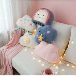 Lovely Cloud Sleeping Pillow Creative Lazy Plush Toy Pillow