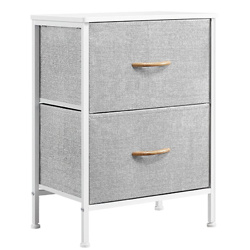 YAHEETECH Nightstand Dresser with 2 Drawers