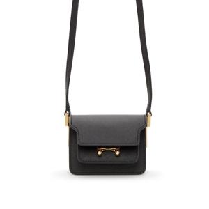 MARNI Black Saffiano Micro Trunk Bag