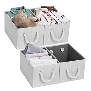 TomCare Storage Cubes Foldable Decorative Baskets