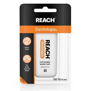 Reach Dentotape Waxed Dental Floss 100yd