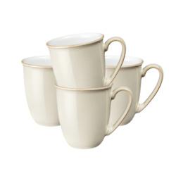 亚麻咖啡烧杯/马克杯4件套