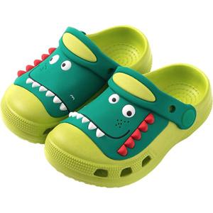 Plzensen Kid's Dinosaur Clogs Cute Toddler Shoes