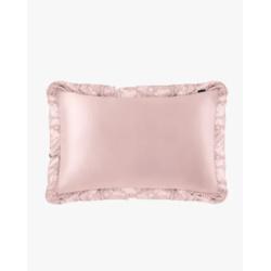 19MM Silk Pillowcase With Ruffle Trim with Hidden Zipper
