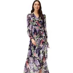 Winafred Chiffon Wrap Maxi Dress