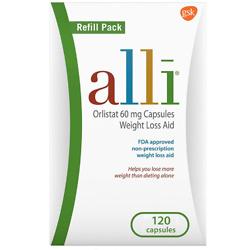 alli Weight Loss Diet Pills, Orlistat 60 mg Capsules