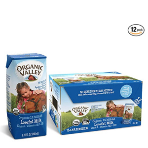 Organic Valley 有机1%低脂牛奶 6.75 oz 12盒装