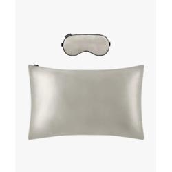 19 MM Terse Silk Pillowcase and Silk Sleep Eye Mask Set