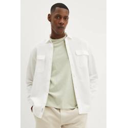 白色宽松版型休闲衬衫