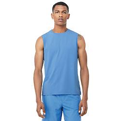 蓝色运动无袖背心