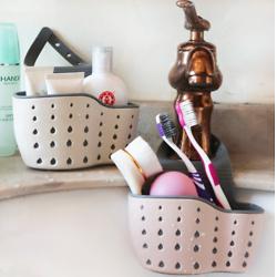 Sink Soap Sponge Drain Rack Silicone Storage Basket