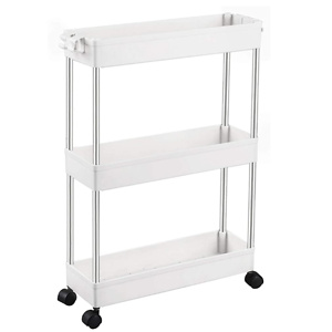 SPACEKEEPER 3 Tier Slim Storage Cart Mobile