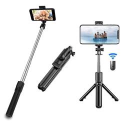 Selfie Stick Tripod, Extendable 3 in 1 Bluetooth Selfie Stick