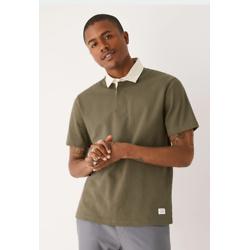 橄榄绿优质棉质Polo衫