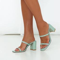 JAGGAR 方形斑点高跟鞋