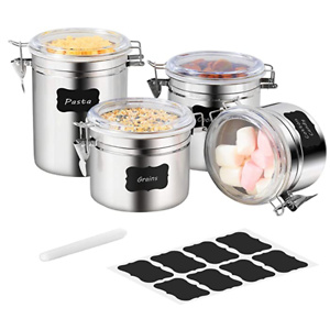 Stainless Steel Airtight Canister Set