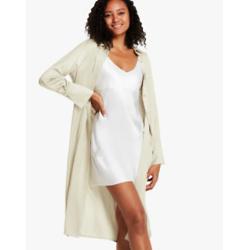 Long Silk Shirt Coat For Women
