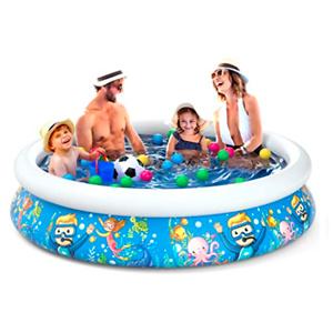 Jasonwell Inflatable Kids Kiddie Pool