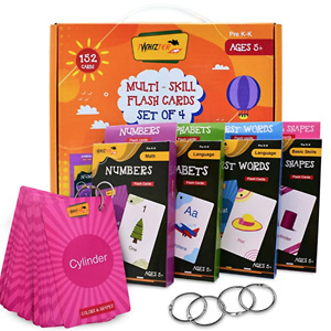 Twhizter Deluxe Flash Cards for Kids