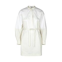 Liana off-white belted mini dress