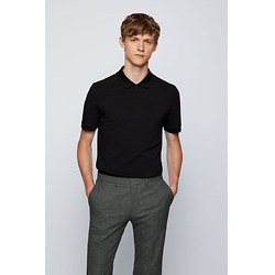 Slim-fit polo shirt with embroidered-monogram motif